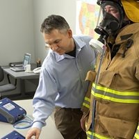 Respirator fit testing with PortaCount