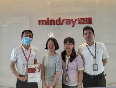 Mindray Medical honors TSI with Outstanding Partner Award