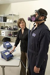 Respirator fit testing for industry with PortaCount