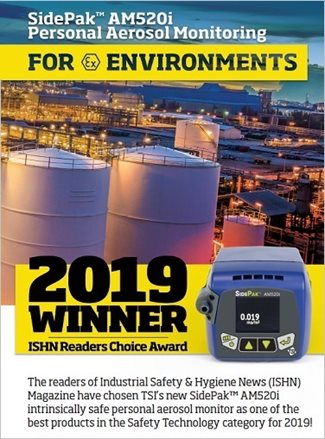 ISHN Readers Choice Award Goes to TSI for SidePak AM520i
