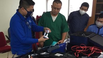 PT HAS Environmental in Indonesia performed fit testing at two hospitals