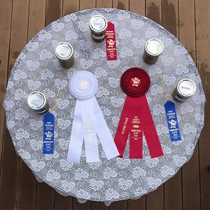 Minnesota State Fair ribbons for Harstad pickles